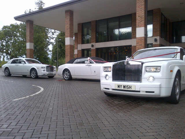 Rolls Royce For Hire >> 2 White Phantoms at the City Pavilion…